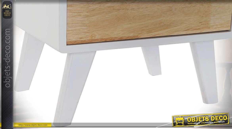 TABLE DE CHEVET RUBBERWOOD 40X30X48 2 CAJ.