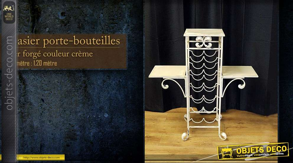 meuble range bouteilles en fer forg. Black Bedroom Furniture Sets. Home Design Ideas