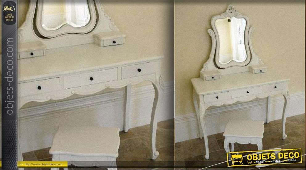 Coiffeuse style louis xv patine shabby chic for Objet deco shabby