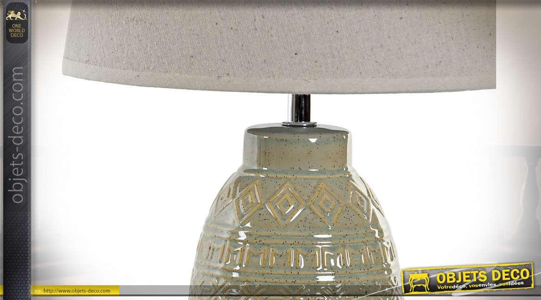 LAMPE DE TABLE GRES LIN 25X25X46 2 MOD.