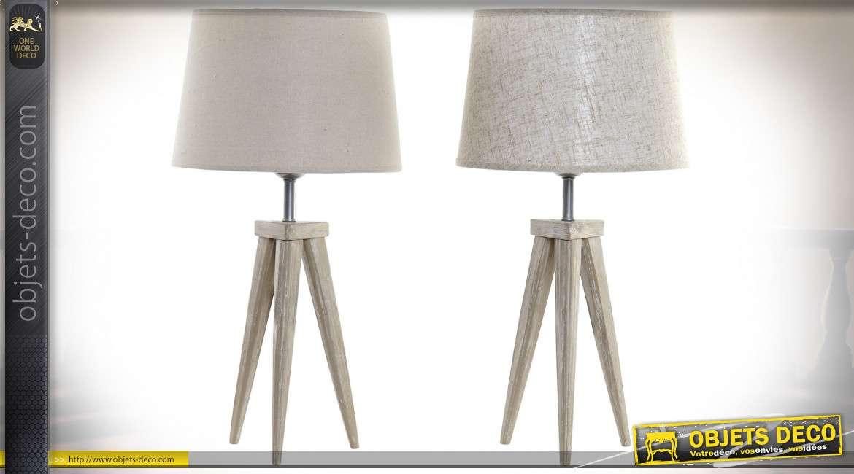 LAMPE DE TABLE PIN LIN 30X30X57 TRIPODE 2 MOD.
