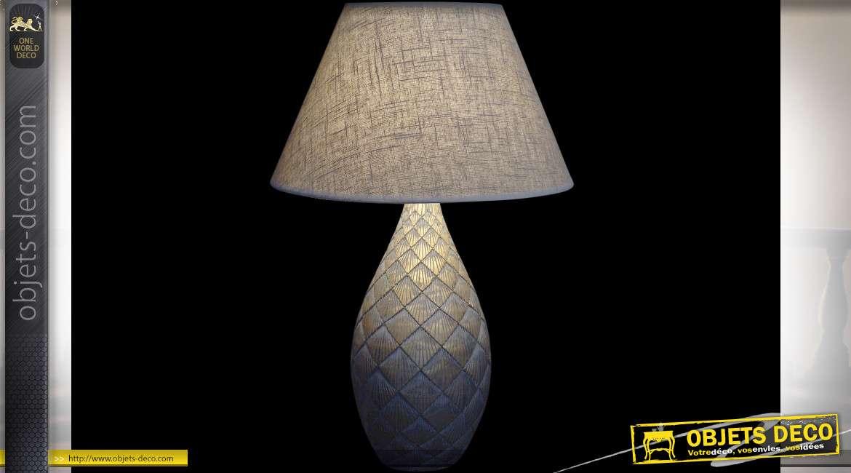 LAMPE DE TABLE RÉSINE 20X47 VIEILLI DORÉ