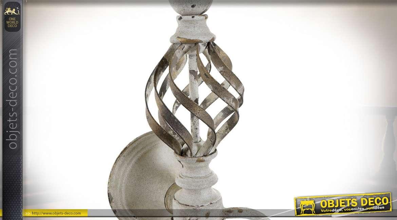 LAMPE APPLIQUE MÉTAL 41,5X31X52 VIEILLI