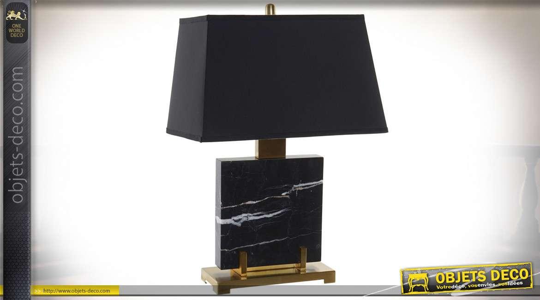 LAMPE DE TABLE MARBRE MÉTAL 49X31X73 11 KG. NOIR