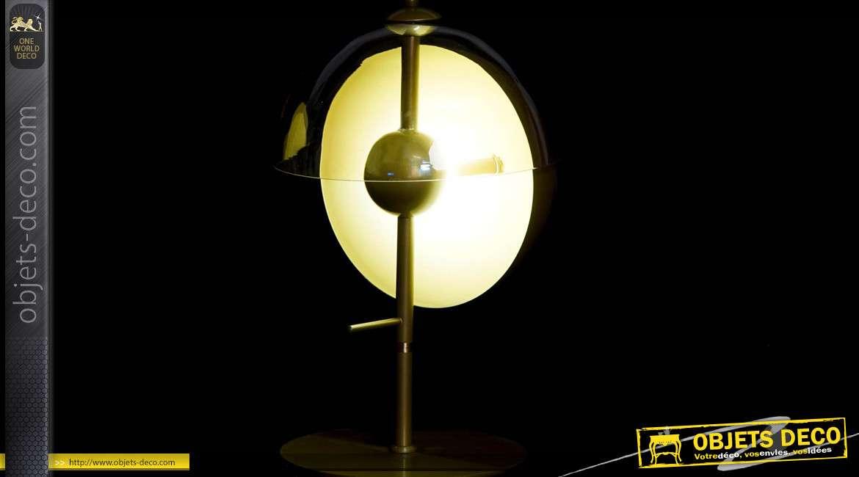 LAMPE DE TABLE MÉTAL VERRE 32,5X50 DORÉ