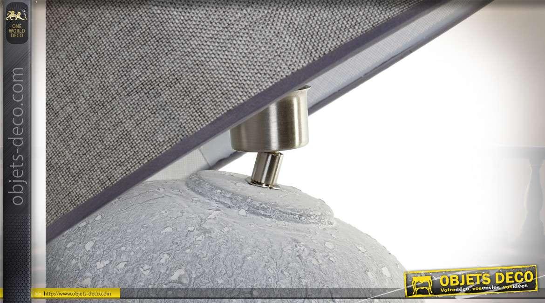 LAMPE DE TABLE CÉRAMIQUE LIN 40X40X66 E27 VIEILLI