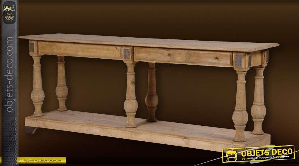 Console Table De Drapier En Chene Massif