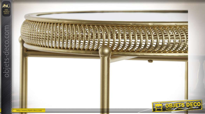 TABLE AUXILIAIRE SET 2 MÉTAL MIROIR 45X45X65 4,75
