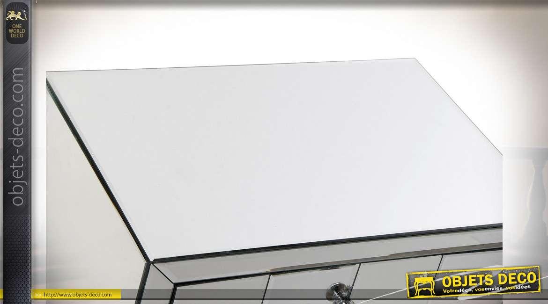 TABLE DE CHEVET MIROIR MDF 59,5X43X76,5