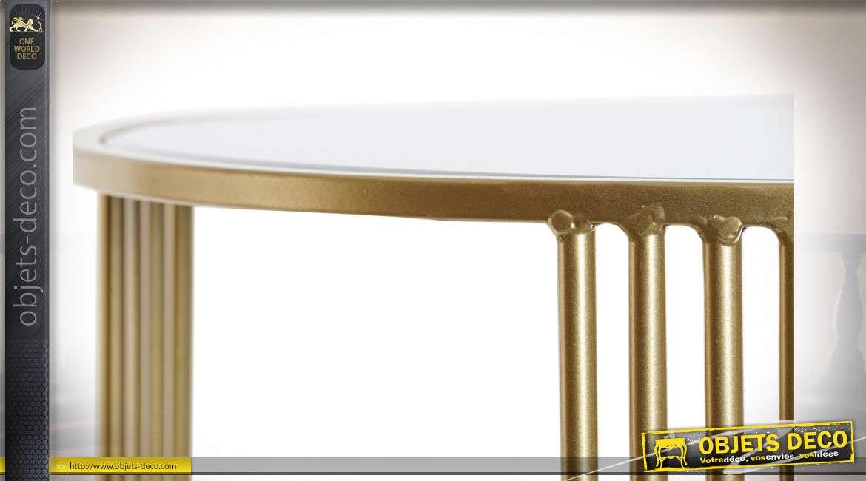 TABLE AUXILIAIRE MÉTAL MIROIR 45X45X52 3,64 MAT