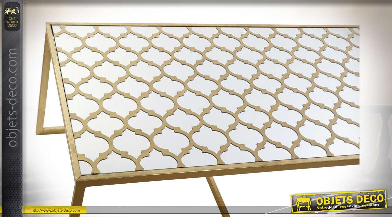 TABLE BASSE SET 3 MÉTAL MIROIR 120X66X46 ETNICO