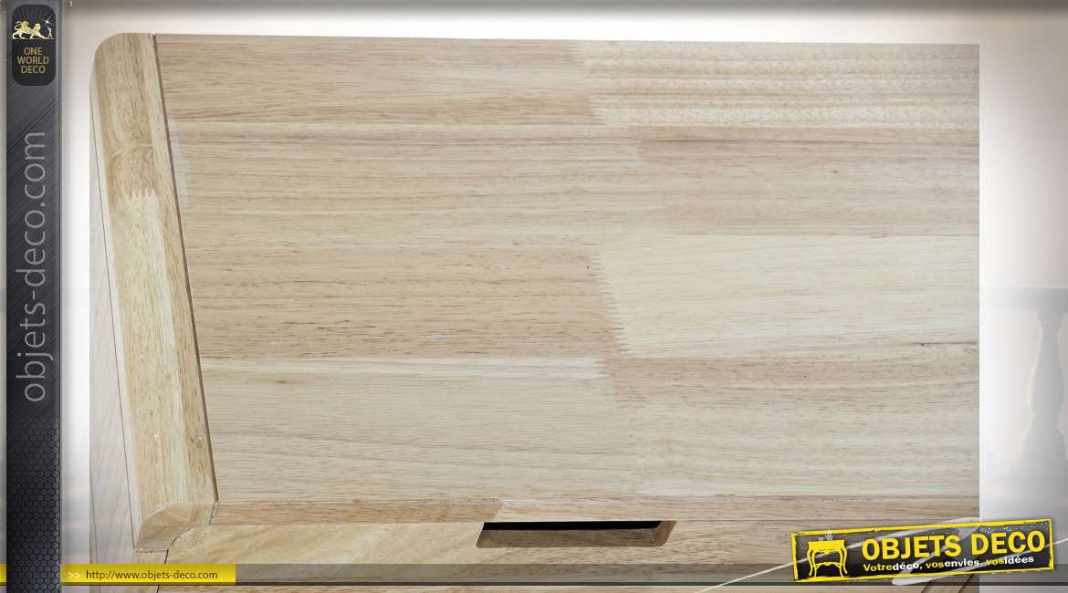 CONSOLE RUBBERWOOD MDF 80X30X74 2 CAJ NATUREL