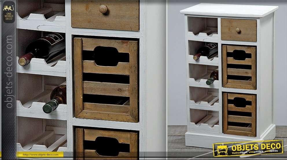 meuble range bouteilles et casiers