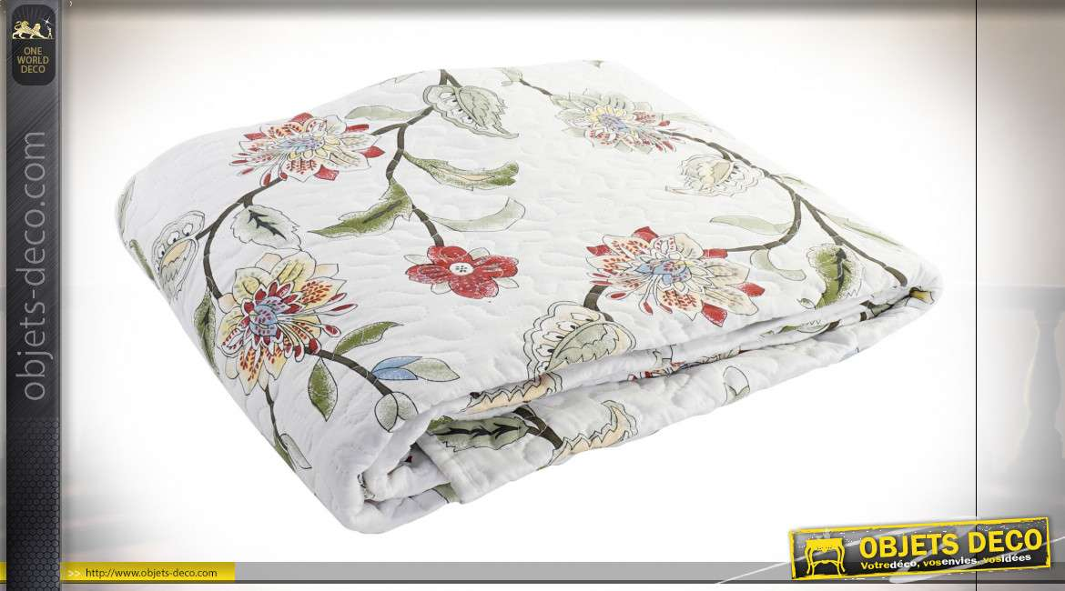 COUVRE-LIT COTON POLYESTER 240X260 295 GSM. FLORAL