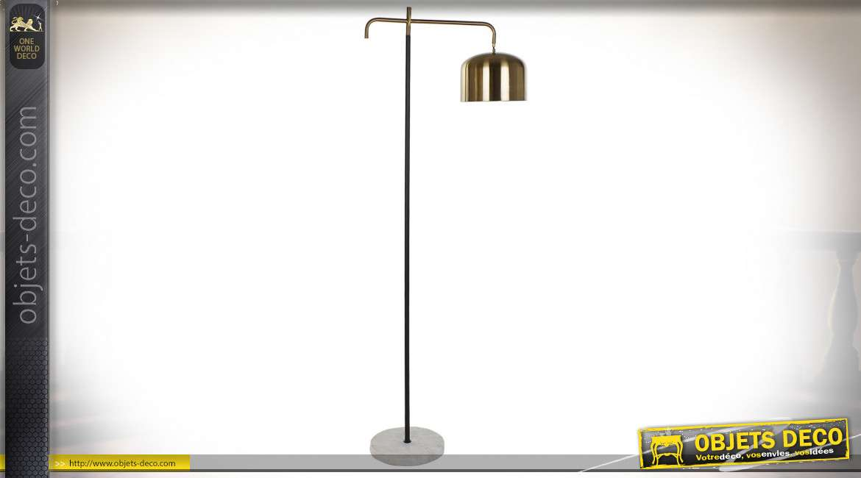 LAMPADAIRE MÉTAL MARBRE 58X25X163,5 25 MAT DORÉ
