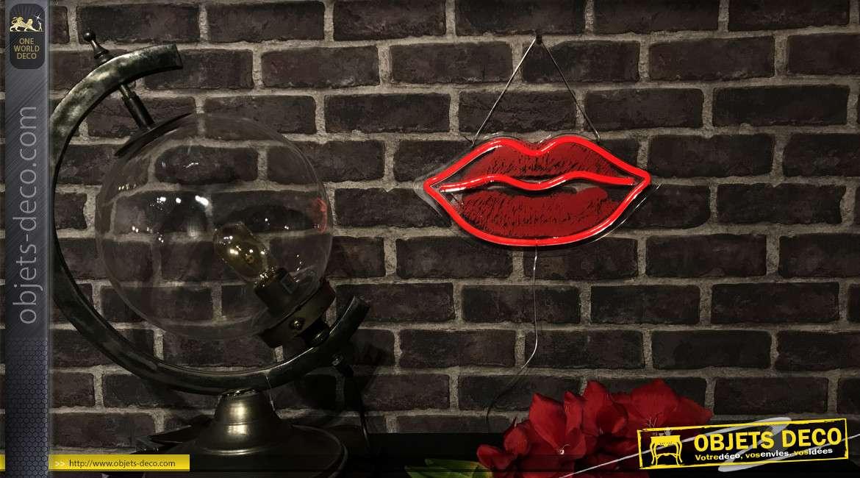 Série de deux bouches lumineuse de style rétro, esprit années 80 inspiration Rolling stones, 19cm