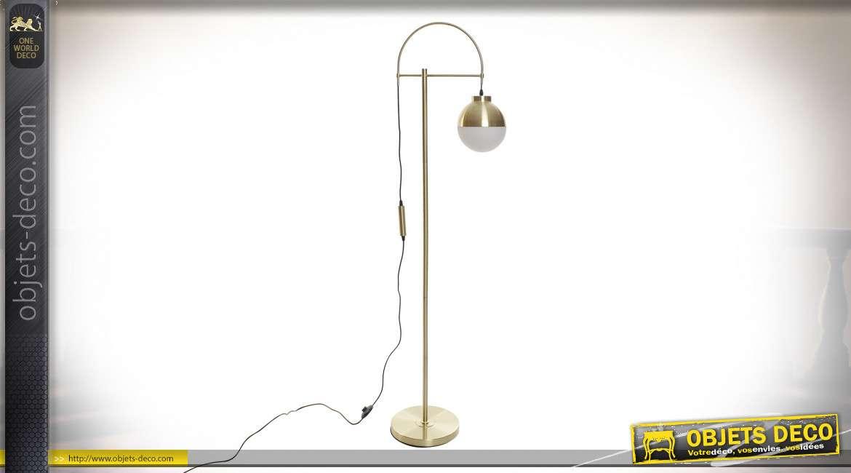 LAMPADAIRE MÉTAL VERRE 45X27,5X163
