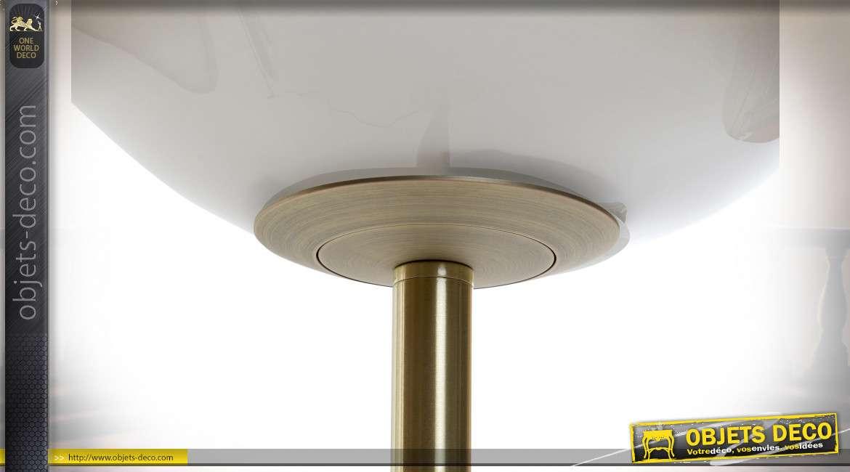 LAMPADAIRE MÉTAL VERRE 30X30X135 BLANC