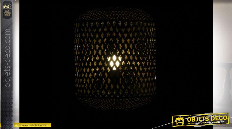 LAMPADAIRE MÉTAL 41X38X136 VIEILLI DORÉ