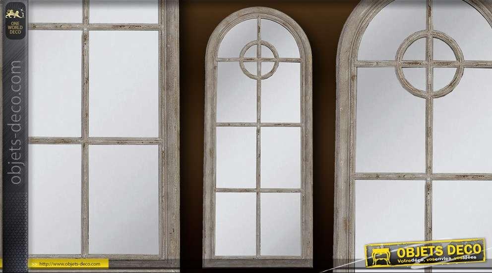 Grand miroir mural d coratif style fen tre 145 cm - Miroir style fenetre ...