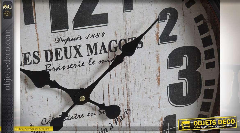 PENDULE MÉTAL VERRE 40X7X60 2 MOD.