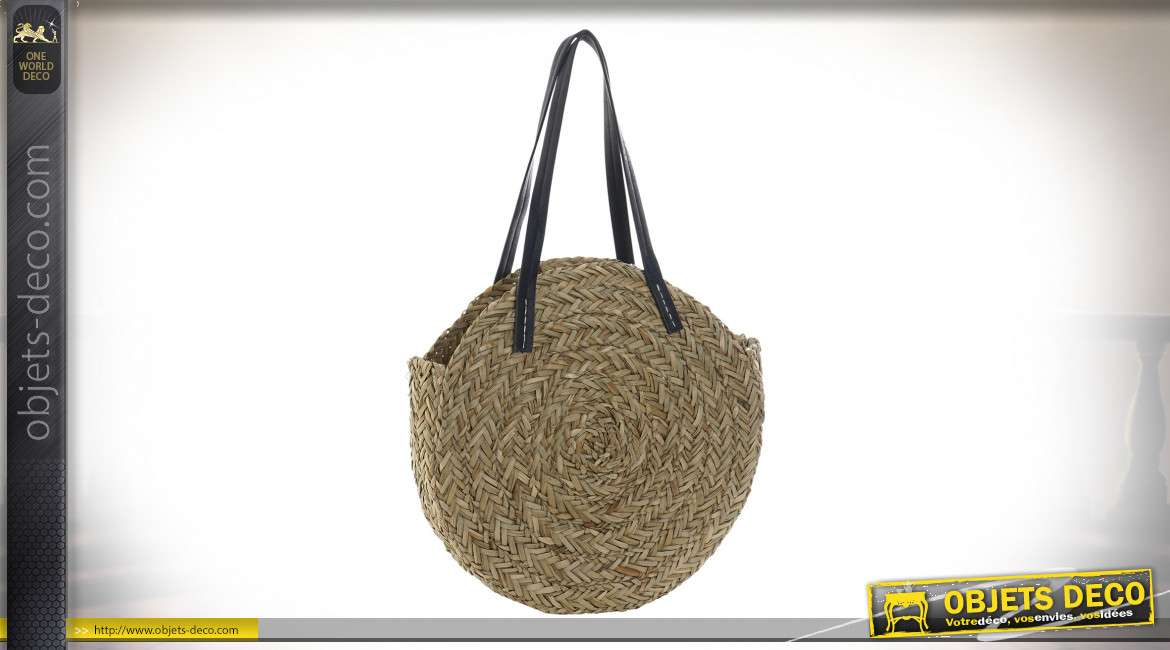 SAC A MAIN SEAGRASS POLYESTER 40X9X40 14400 FEUILLE