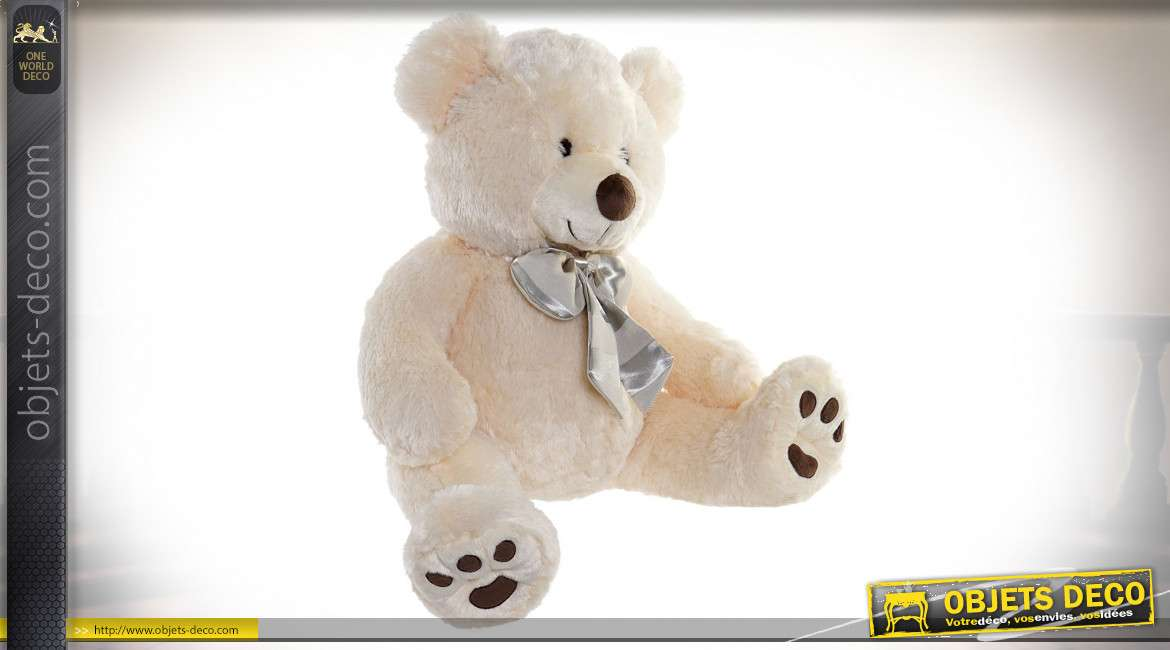 PELUCHE POLYESTER 50X40X50 OURS BEIGE