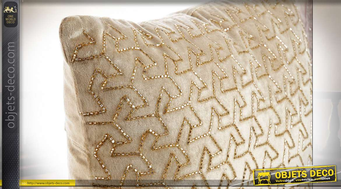 COUSSIN VISCOSE VELOURS 45X45 800GR. RELIEF