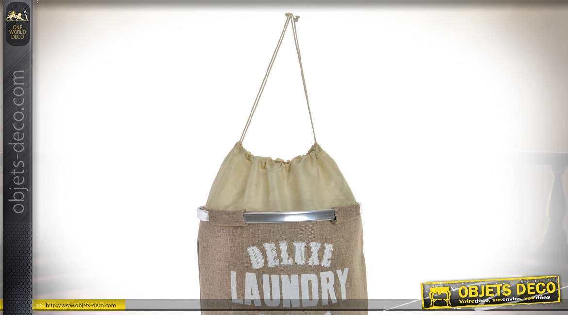 PANIER LINGE POLYESTER 40X40X52 BLANCHISSERIE 3 MO