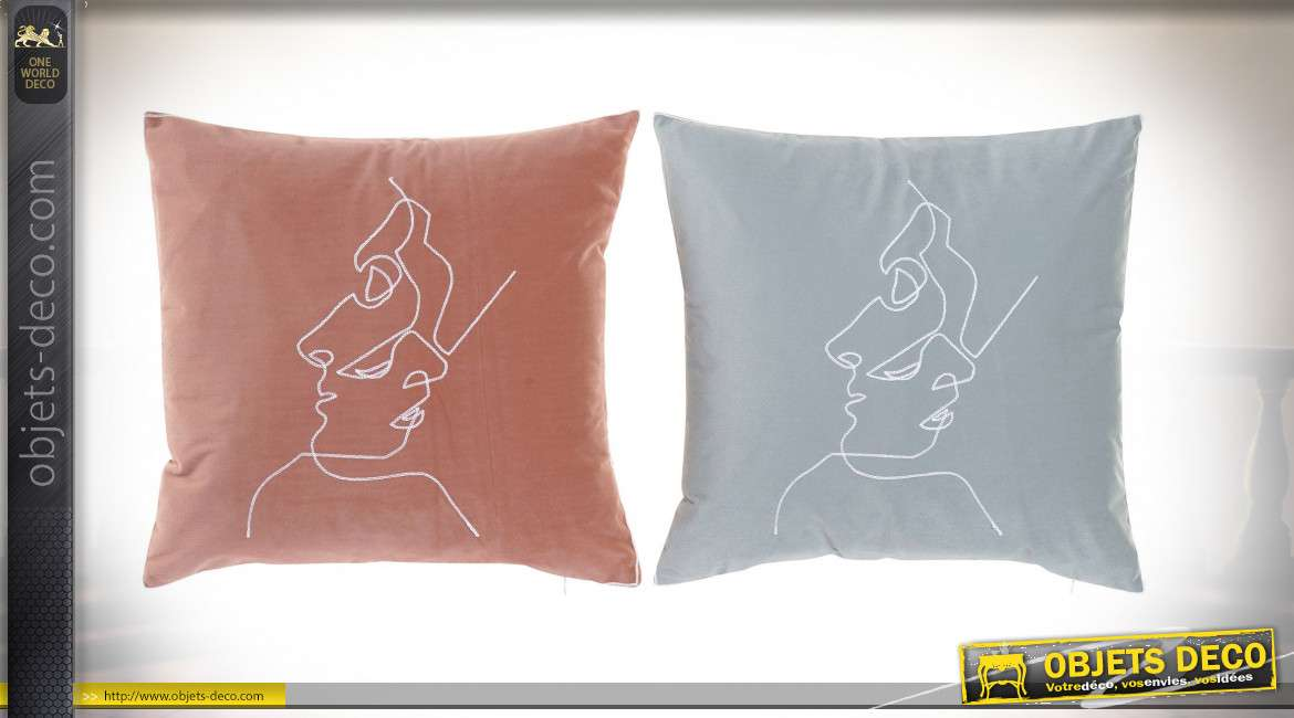 COUSSIN POLYESTER VELOURS 45X45 510GR. 2 MOD.