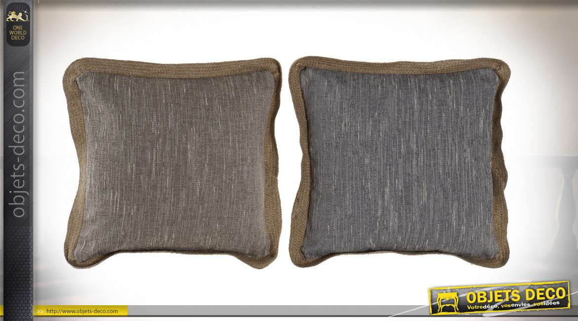 COUSSIN POLYESTER LIN 45X45 LIGNES 2 MOD.