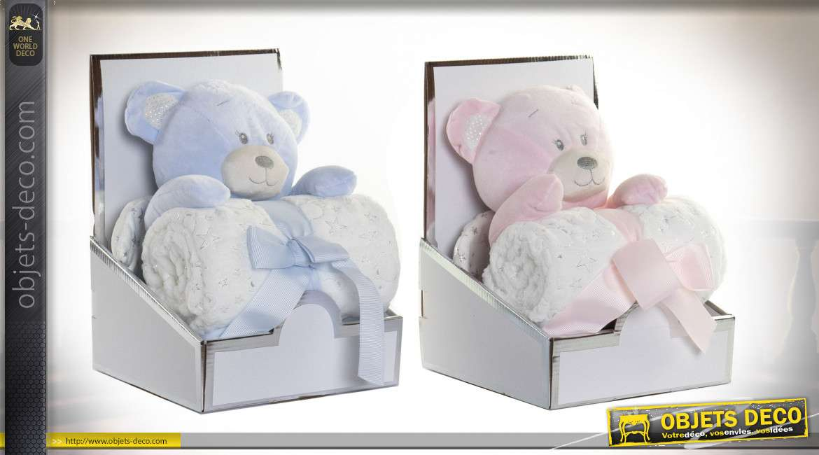 COUVERTURE PELUCHE POLYESTER 25X25X26 OSITO 2 MOD.