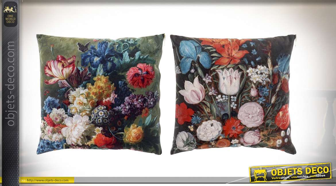 COUSSIN POLYESTER 45X45 350 GR. HYPER FLORAL 2 MOD