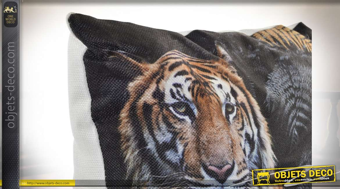 COUSSIN POLYESTER 45X45 530 GR. TIGRE 2 MOD.
