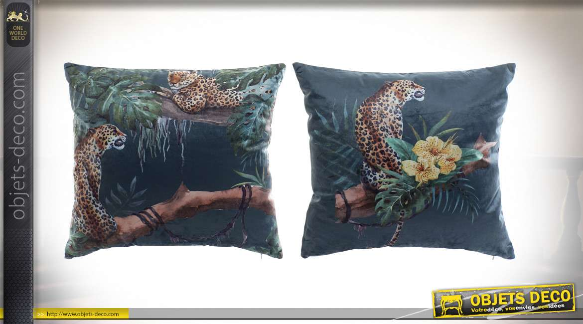 COUSSIN POLYESTER 45X45 400 GR. JUNGLE 2 MOD.