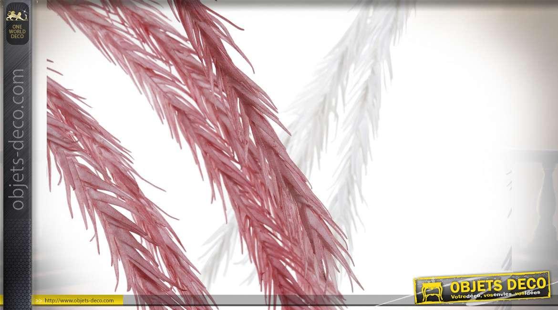 Série de deux branches synthétiques décoratives finition rose poudré et blanc éclatant, 90cm