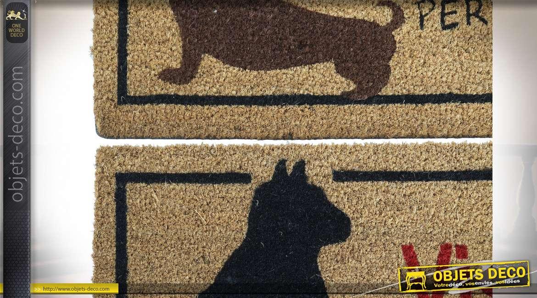 PAILLASSON FIBRE COCO 75X45 ANIMAL DE COMPAGNIE 2