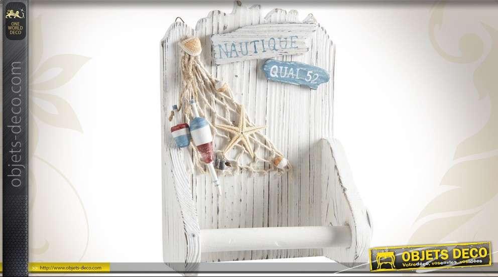 Dérouleur de papier WC en bois