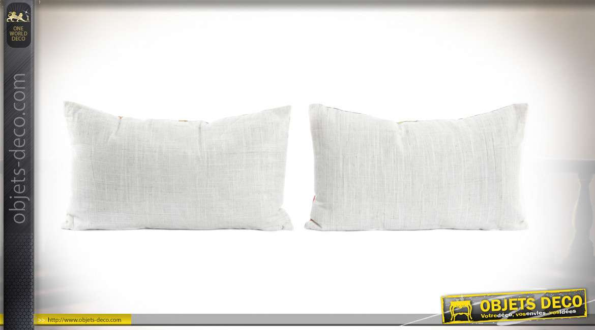 COUSSIN POLYESTER 50X30 PERROQUETS 2 MOD.