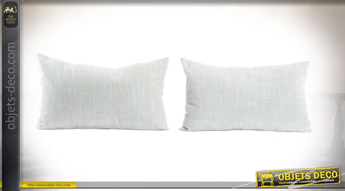 COUSSIN POLYESTER 50X30 FEUILLE 2 MOD.