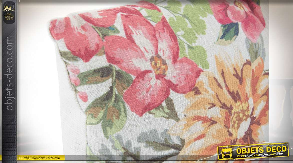 COUSSIN POLYESTER 50X30 FLEURS 2 MOD.