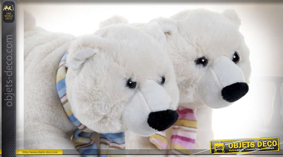 PELUCHE POLYESTER 20X20X25 OURS 2 MOD.