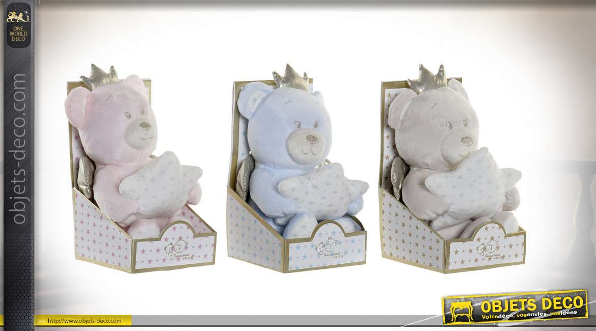 PELUCHE POLYESTER 10X10X15 OURS 3 MOD.