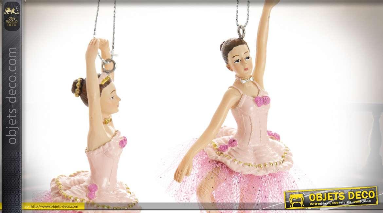 Décoration à suspendre de ballerines en résine, 12cm