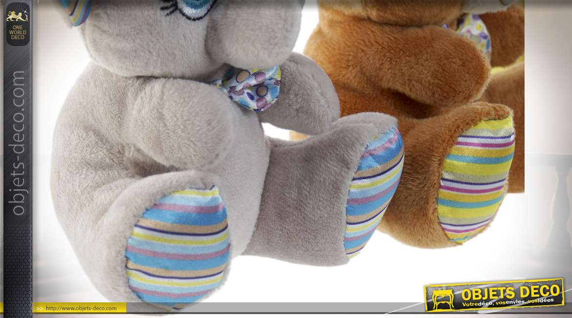 PELUCHE POLYESTER 15X12 ANIMAUX 6 MOD.