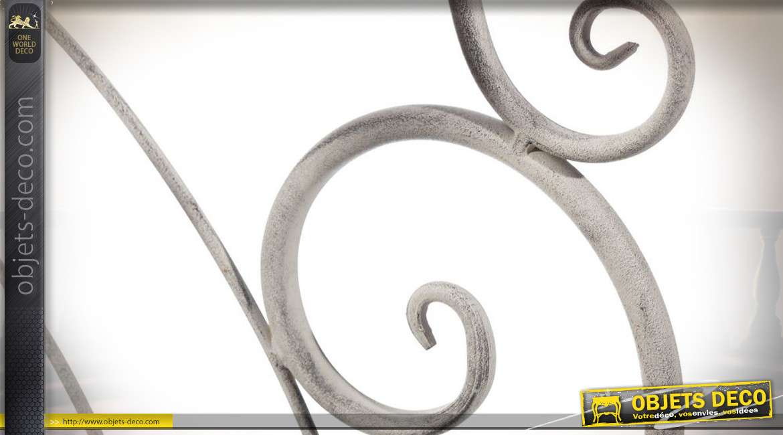 Etagère d'angle en métal coloris blanc cassé à 4 plateaux 166 cm