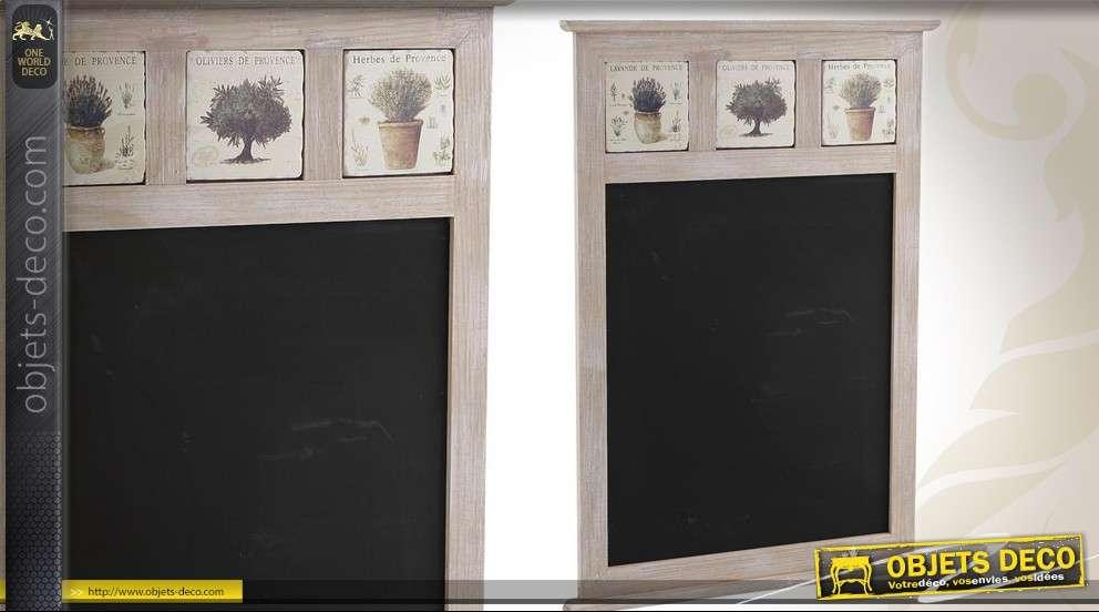 Tableau noir mural avec d co sur le th me de la provence - Tableau noir deco ...