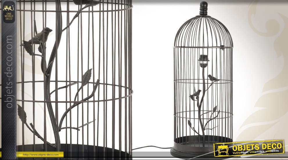 Cage à oiseaux lampe décorative (75 cm)