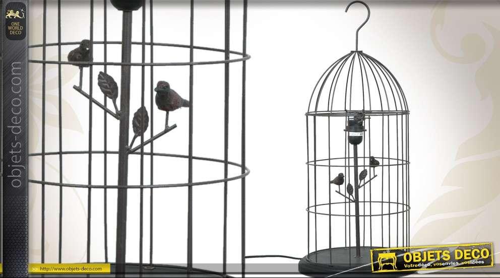 Lampe cage à oiseaux décorative en métal (67 cm)