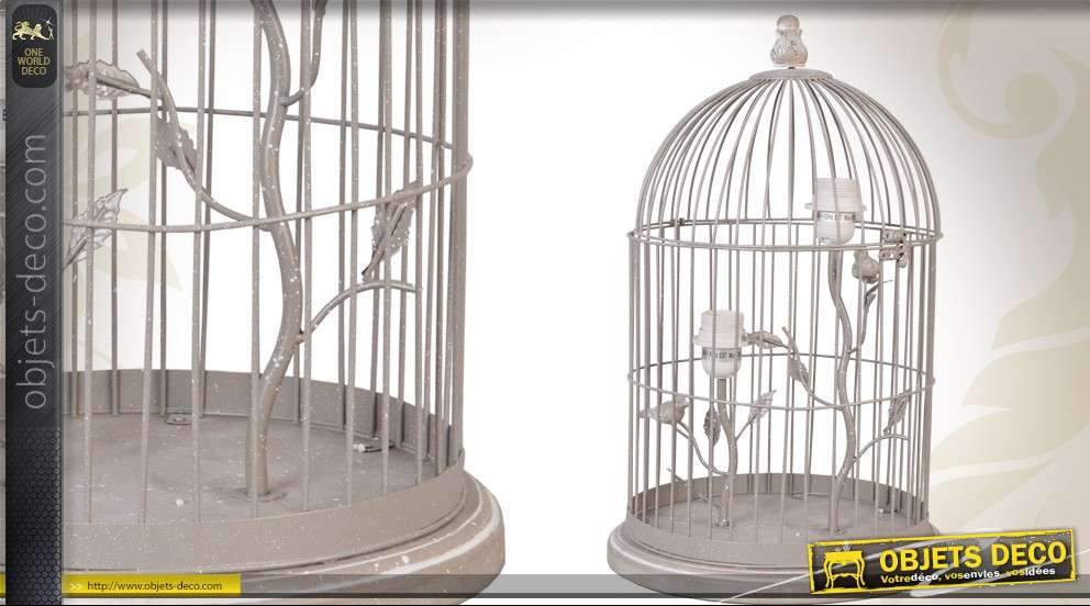 Lampe en forme de cage à oiseaux